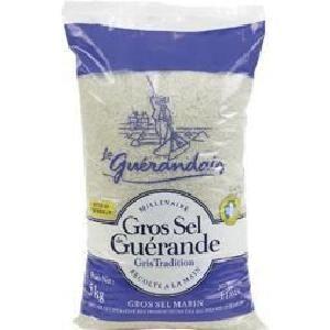 Gros sel de Guérande Gris Tradition le sac de 5 kg Le Guérandais (中山社大『法式烘焙』課程用這個牌子:法國 Gros Sel Guerande 海鹽,粗,不確定是哪種包裝)