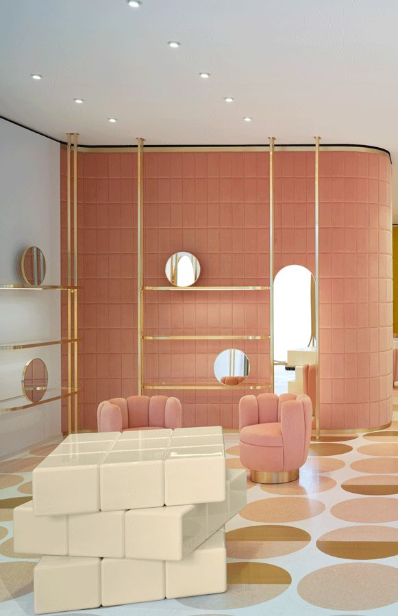 India Mahdavi's chain of stores for Red Valentino channels the brand's romantic muse. - News - Frameweb