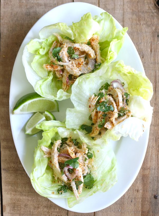 Toasted Coconut & Chicken Lettuce Wraps by seaonwithspice #Lettuce_Wraps #Chicken #Coconut