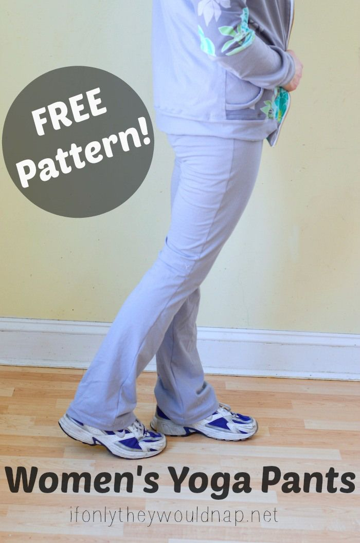 FREE Women's Yoga Pants Pattern from If Only They Would Nap tutorial here