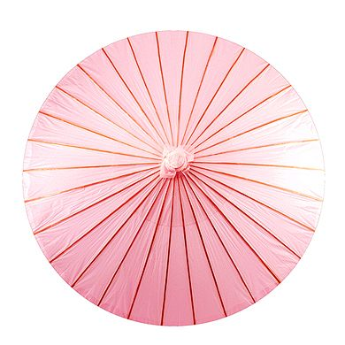 The Wedding Faire - Paper Parasol with Bamboo Boning - Pastel Pink, $16.95 (http://www.weddingfaire.com.au/paper-parasol-with-bamboo-boning-pastel-pink/)