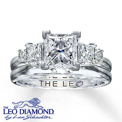 Kay - Leo Diamond Enhancer Ring 1/2 carat tw 14K White Gold