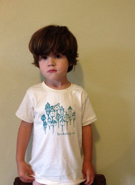 Be a Berkeley local.    Good for the child, good for the environment. Water-based inks printed on organic cotton.  Printed on American Apparel tshirts... Made in the USA. Available in size 2t, 4t, Shirt color: Natural