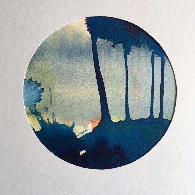 #lonehartmann #art #circle #watercolor #akvarel #mixedmedia