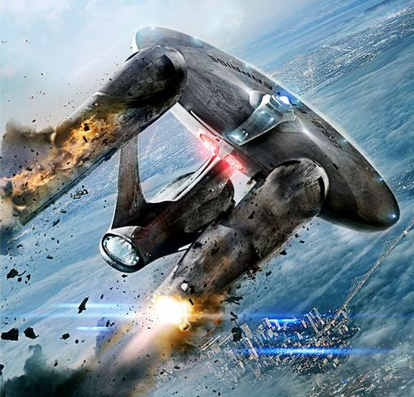 The crippled Enterprise from 2013's Star Trek: Into Darkness.