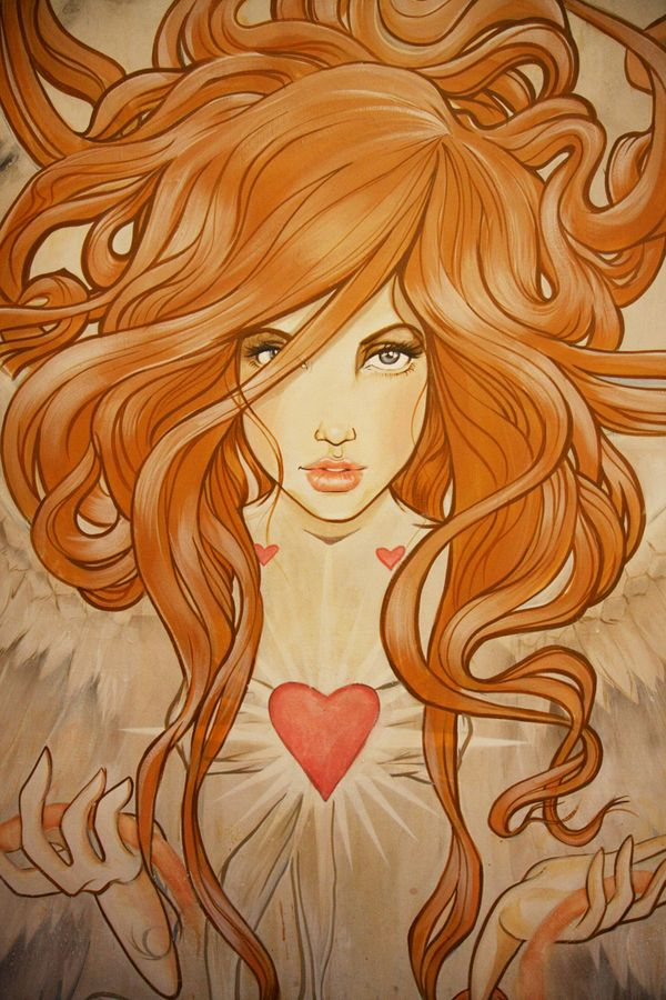 Angels Will Fall by Miss Led, via Behance. What a wonderful chest piece this would make!