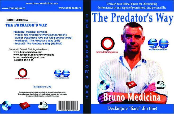 PROGRAM PACHET  Autor: Bruno Medicina  Nr. volume: 1  Durata: 58 min.  Contine:  - DVD - The Predator's Way (in limba romana)  - Material audio MP3 - Dezlantuie fiara din tine! (in limba romana)  - Workbook tiparit - The Predator's Way (in limba romana)  Descrierea sistemului The Predator's Way (Calea Pradatorului), o formula revolutionara prin intermediul careia putem atinge performante fantastice in toate domeniile vietii. http://selfcoach.ro/selfcoach/product_info.php?products_id=816