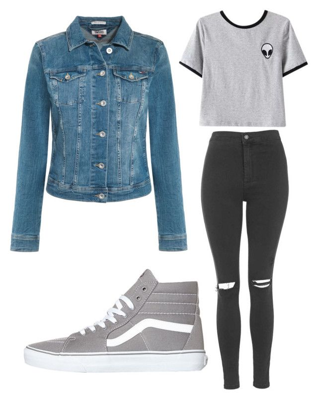 """Untitled #543"" by deima-835 ❤ liked on Polyvore featuring Topshop, Chicnova Fashion, Tommy Hilfiger and Vans"