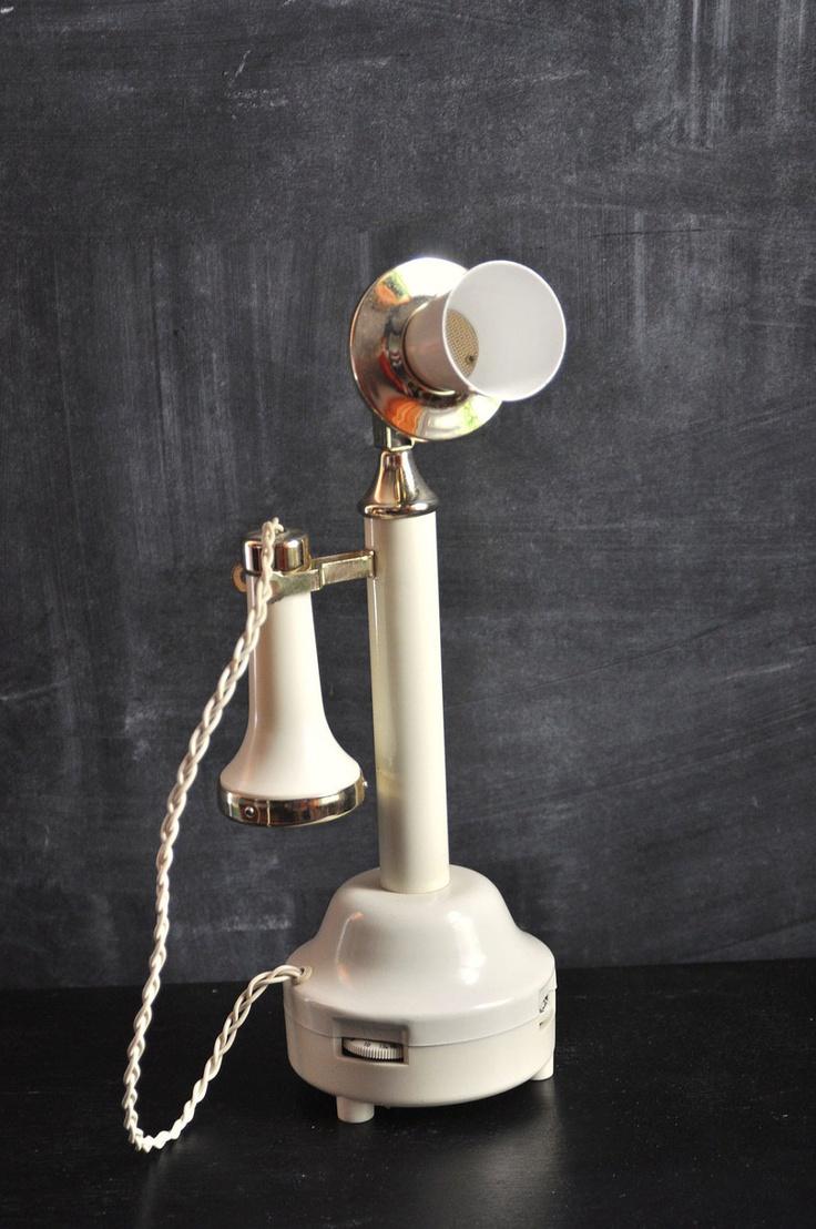Vintage Antique Telephone AM Radio Conversation Piece.