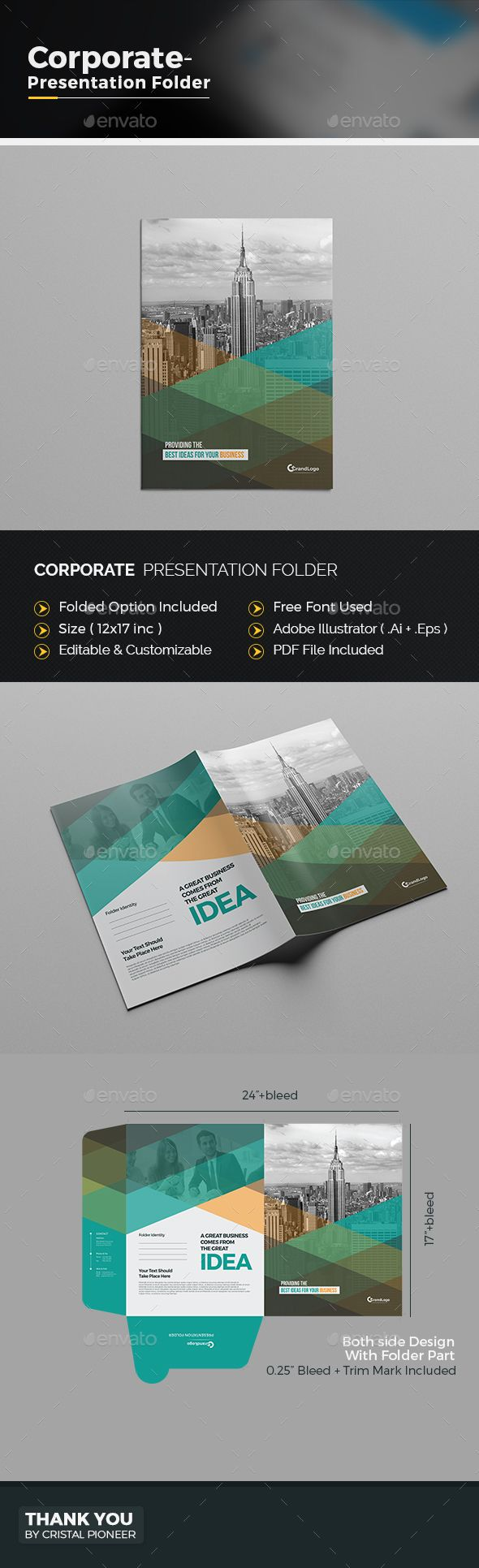 #Corporate Presentation Folder.Download here: http://graphicriver.net/item/corporate-presentation-folder/16107045?ref=arroganttype