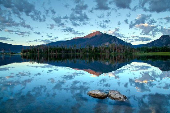 Lake Dillon, Frisco, Colorado. Photo by oakleydo. http://www.redbubble.com/people/oakleydo/works/5724961-lake-dillon-at-sunrise-frisco-summit-county-colorado