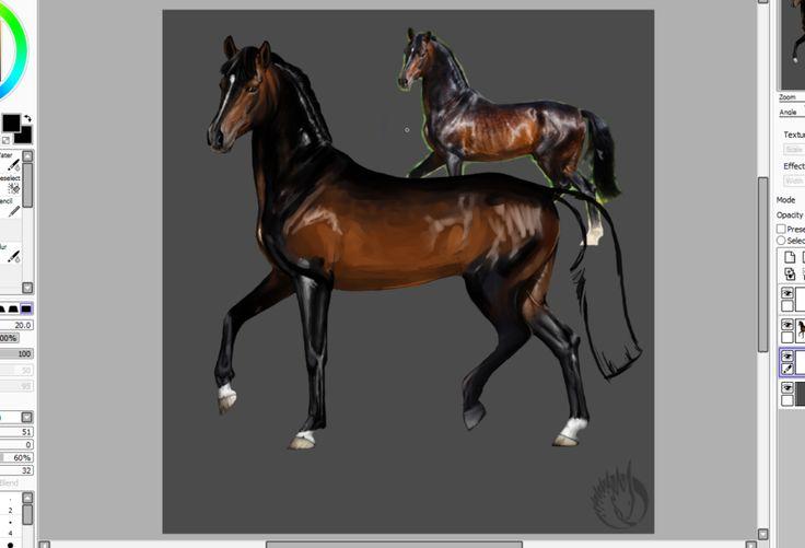 WIP of russian stallion Ildon by MargotShareaza.deviantart.com on @DeviantArt