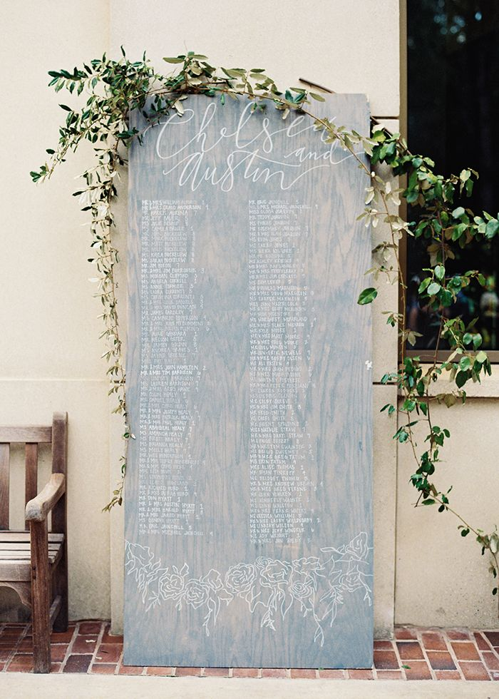 Romantic Blush Wedding Details via oncewed.com #wedding #decor #spring #garden #greenery #handlettering