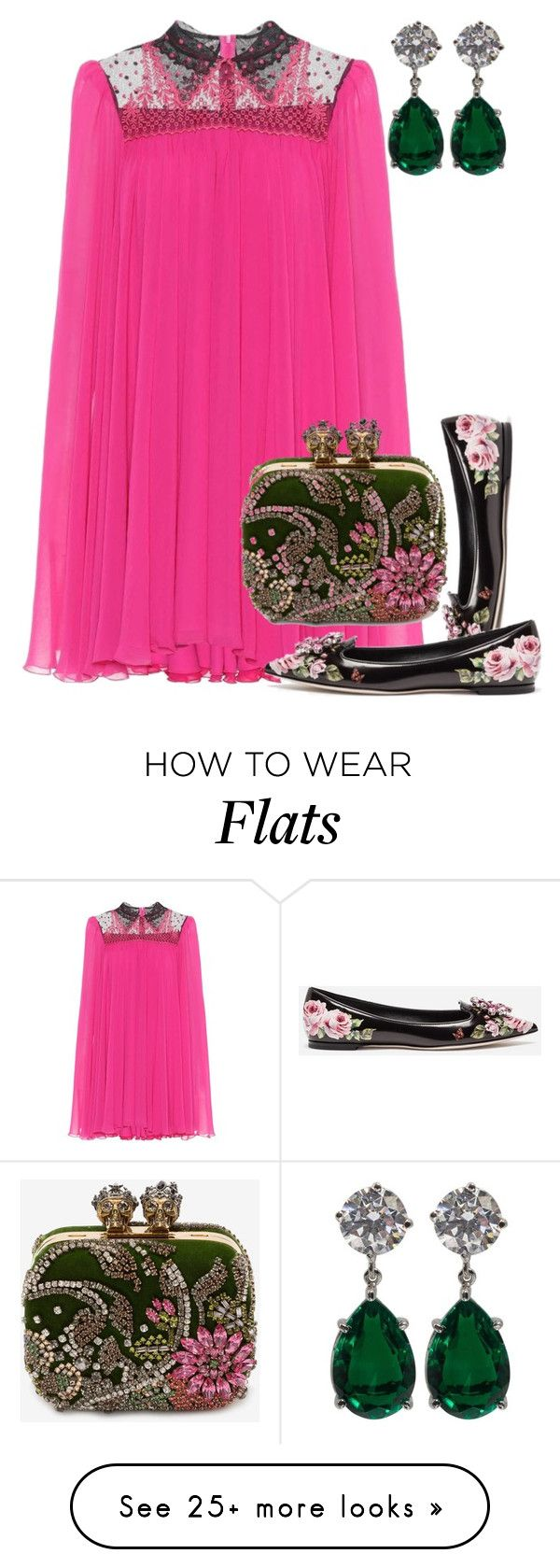 """""""Love"""" by forgottenmelody on Polyvore featuring Philosophy di Lorenzo Serafini, Dolce&Gabbana, Alexander McQueen, contestentry and NYFWHotPink"""