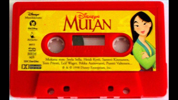 Disney Mulan Finnish read and listen story casette Musiikkisatu (1998) I loooved these!