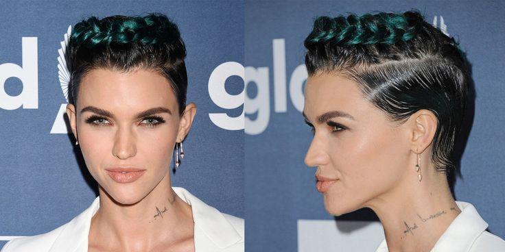 Le trecce e i capelli verdi di Ruby Rose -cosmopolitan.it
