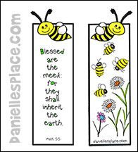 Bee Bible Verse Bookmark Craft From Daniellesplace
