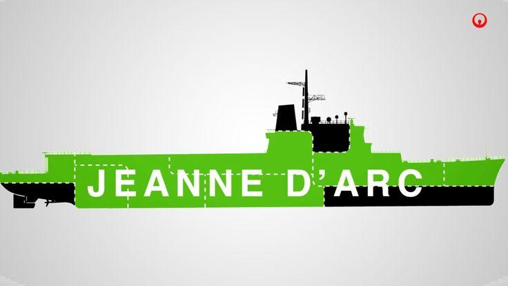 Le démantèlement de la Jeanne d'Arc par Veolia. Animation réalisée à partir d'une infographie conçue pour un dossier de presse.