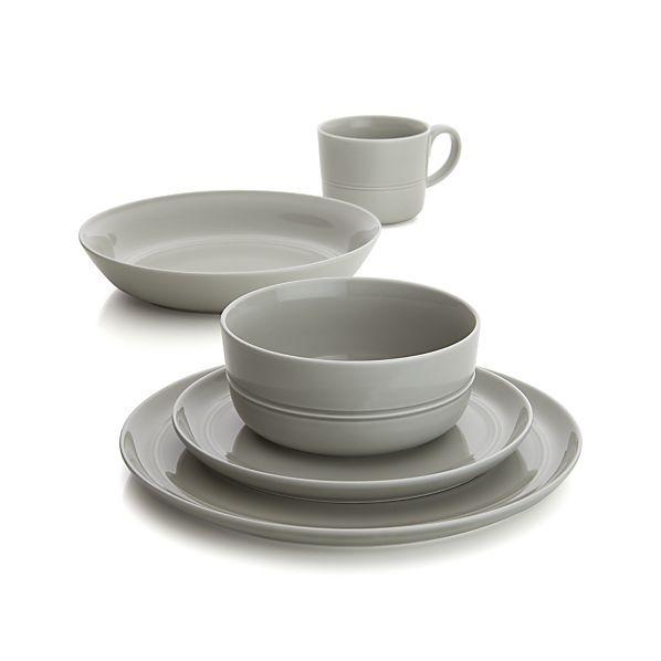 Hue Light Grey Dinnerware... a little more masculine but still pretty.