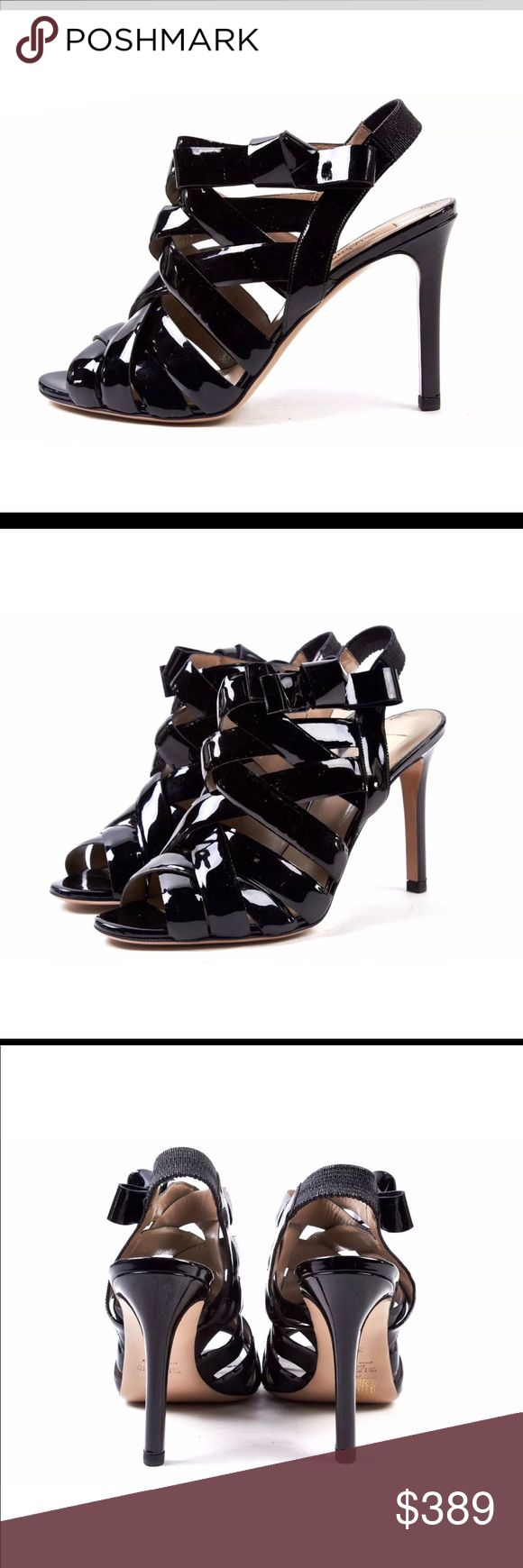 VALENTINO GARAVANI Black Patent High Heels VALENTINO GARAVANI Lido Sandal Roma Valentino Garavani Shoes Heels