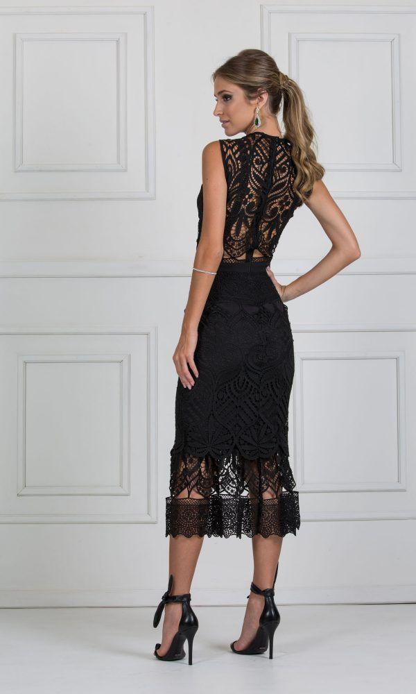 873454189 vestido midi preto de renda | pink em 2019 | Prom dresses, Dresses e ...