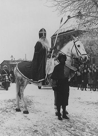Sinterklaas en Zwarte Piet, Zwolle 1952