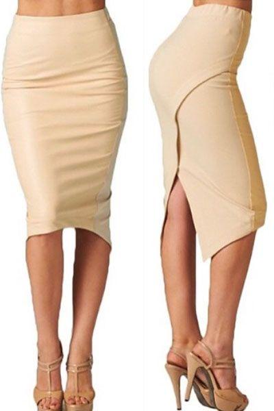 Skirts & Petticoat : Falda ajustada asimétrica