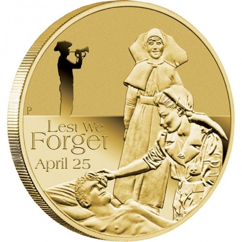 2012 ANZAC one dollar coin issued in Australia.