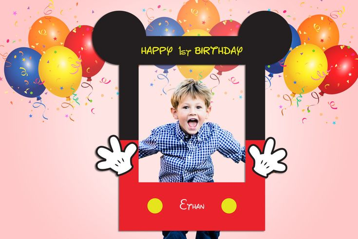 Are you Having a Mickey Mouse Mouse themed party? Celebrate your birthdays, and other events with our easy to customize Micky Mouse Frame! You will receive a Mickey Mouse **You will receive editable file only. No physical item will be shipped.** Guide for using our Frames: 1. After