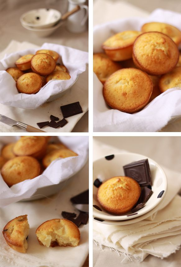 Muffins pear and chocolate / Muffins poire chocolat