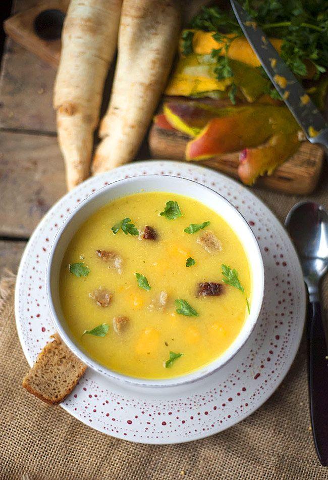 Zupa krem pietruszkowa z mango - pyszna i zdrowa