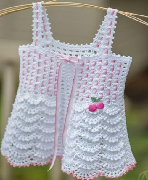 Crochet For Children: Gorgeous crochet blouse for girls - Free diagram