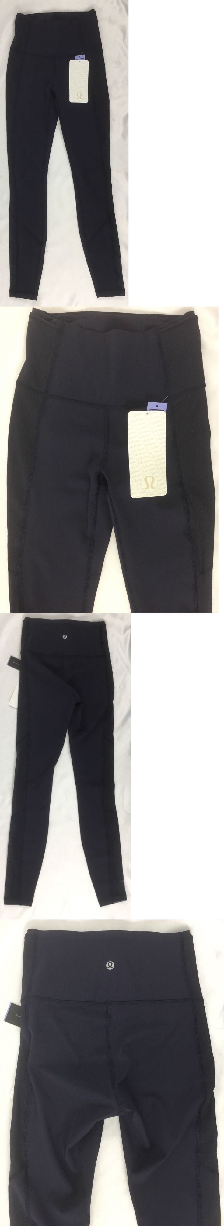 Pants 59280: Lululemon Women S Body Con Tight High Rise Leggings Luxtreme Navy Blue Size 12 -> BUY IT NOW ONLY: $74.99 on eBay!