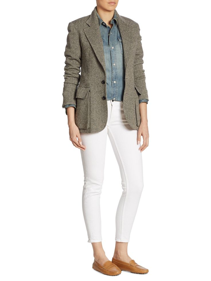 Buy Ralph Lauren Collection Women's Multicolor Iconic Preston Herringbone Jacket, starting at $2150. Similar products also available. SALE now on!