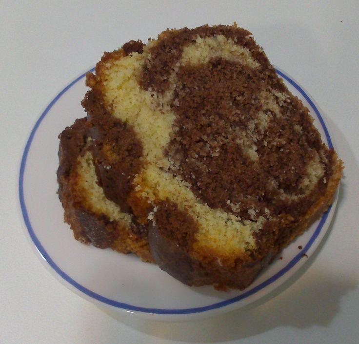 Plumcake veteado sin gluten con Thermomix