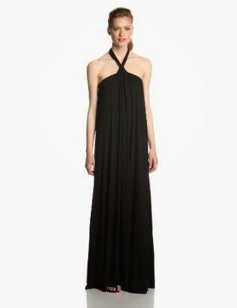 black maxi dress: black halter maxi dress