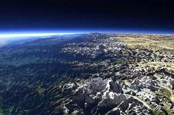 Himalayas from outer space