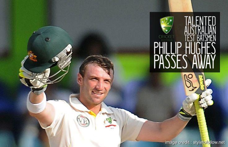 Talented Australian Test Batsmen Phillip Hughes passes away #PhillipHughes #RIP #RIPPhillipHughes #RIPHughes #uthestory