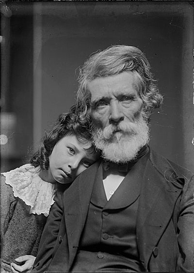 Citation: Russell Smith and his granddaughter, Polly, ca. 1885 / unidentified photographer. Mary, Xanthus, and Russell Smith family papers, Archives of American Art, Smithsonian Institution.