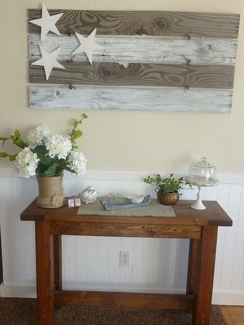 pallet flag.. oh wow. So easy. Rustic wall decor! Bet you it is cheap to make! - sublime-decor