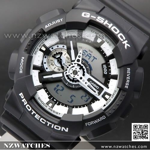 Casio G-Shock All Black Analog Digital Display Watch GA-110-1B, GA110