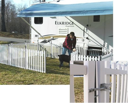 Picket Play Portable Camping Amp Dog Fence Rv Dog Fence