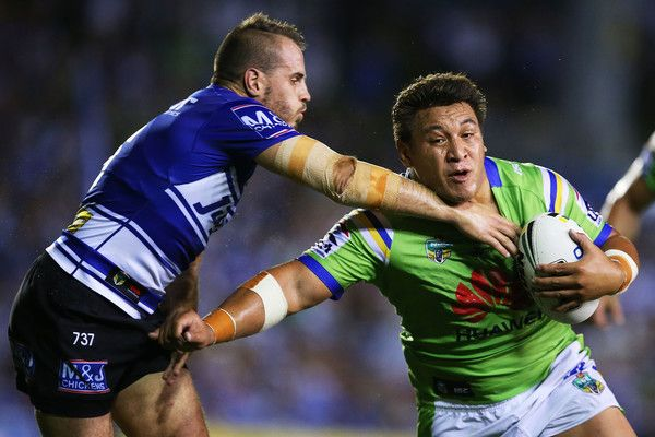 2016 NRL Rd 5 - Bulldogs v Canberra Raiders - Josh Papalii