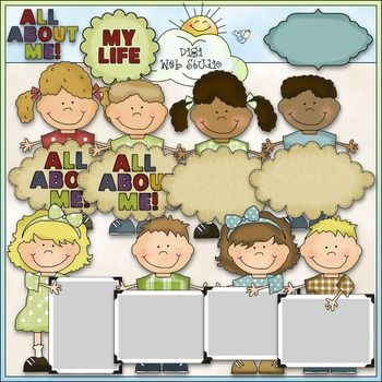 This Bean Pole Kids: All About Me Clip Art set comes with 11 Color Images.  All images are high quality 300 dpi for beautiful printing results.Note: This set is also for sale in a bundle: Bean Pole Kids Clip Art Bundle - 11 Colored Clip Art Sets.CLIP ARTFormats: transparent PNG and non-transparent JPGIncludes:  3 girls with blank signs, 3 boys with blank signs, 1 girl with a sign with: ALL ABOUT ME!, 1 boy with a sign with: ALL ABOUT ME!, 1 blank sign, 1 word art of: ALL ABOUT ME!, 1 sign…