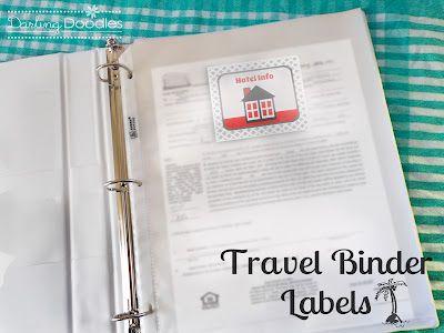 Darling Doodles: Travel Binder Labels