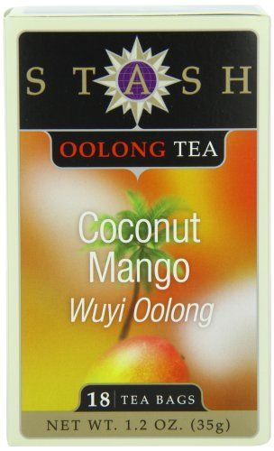 Stash Tea Company Coconut Mango Wuyi Oolong Tea, 18 Count Tea Bags in Foil (Pack of 6) - http://teacoffeestore.com/stash-tea-company-coconut-mango-wuyi-oolong-tea-18-count-tea-bags-in-foil-pack-of-6/