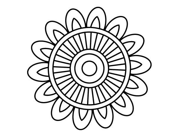 Dibujo de Mandala solar