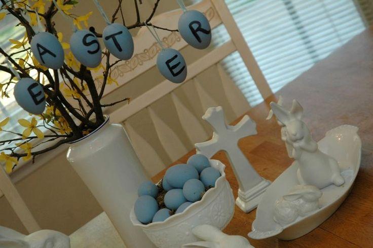 Dollar tree ideas for Easter.  Inspiration: Pottery Barn