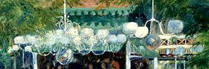 Газовые фонари освещали вечерами парижские кафе и магазины, но уже со следующего, 1877 года магазин «Лувр», благодаря русскому изобретателю Павлу Яблочкову, обзавелся электрическим освещением, и новшество стало распространяться по столице. Легкое дыхание: 12 загадок картины Ренуара | Публикации | Вокруг Света