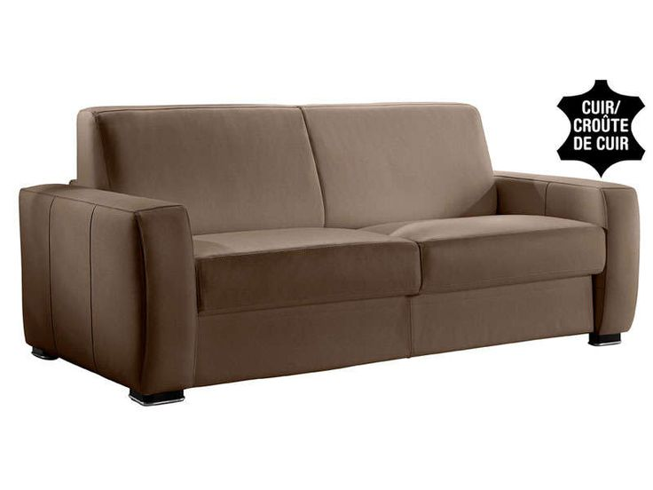 Canapé cuir Conforama promo canapé cuir, le Canapé convertible cuir 2 places MAGNIFICO coloris gris/taupe prix promo Conforama 903.40 € au lieu de 1 503 € TTC